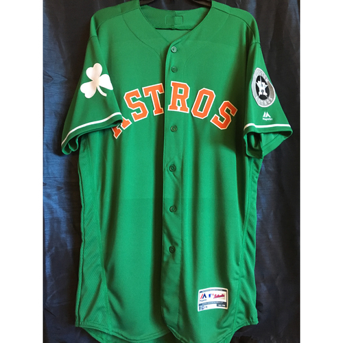 Photo of Max Stassi 2019 Team-Issued St. Patrick's Day Jersey (Size 44)