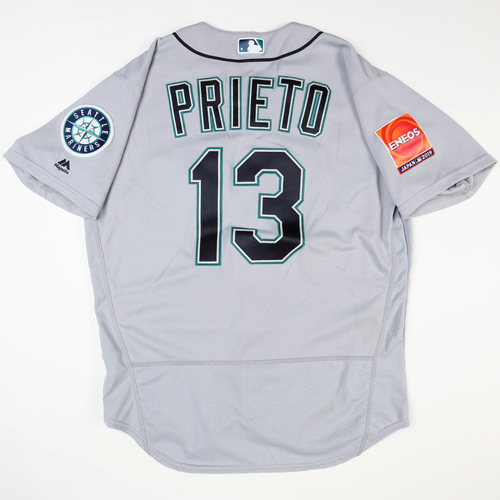 Photo of 2019 Japan Opening Day Series - Game Used Jersey - Chris Prieto, Seattle Mariners at Oakland Athletics -3/18/2019 , 3/20/2019