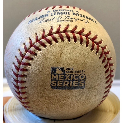 watch c0a32 7ec8d Photo of 2019 Mexico Series Game Used Baseball- Albert Pujols Reaches On  Throwing Error,