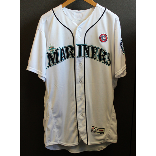 Photo of Tim Beckham Game-Used Armed Forces Day Jersey