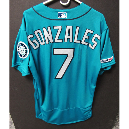 Photo of Seattle Mariners Marco Gonzales Game-Used Green Jersey - Twins vs. Mariners - 5/17/19
