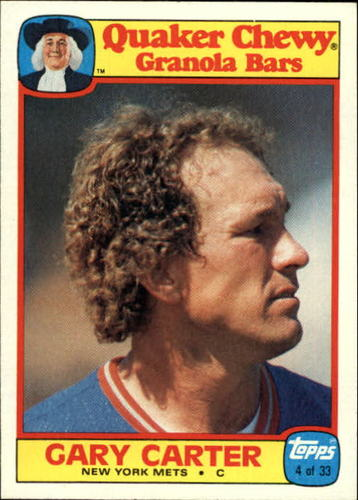 Photo of 1986 Quaker Granola #4 Gary Carter