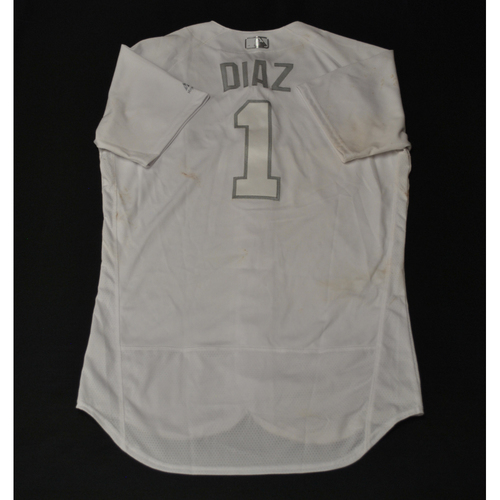 """Photo of Isan """"DIAZ"""" Diaz Miami Marlins Game-Used 2019 Players' Weekend Jersey"""