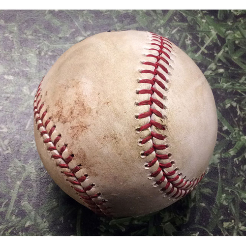 Photo of Game-Used Baseball CIN@MIL 06/20/19 - Jimmy Nelson - Nick Senzel: Single
