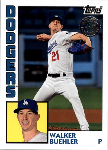 Photo of 2019 Topps Update '84 Topps #8448 Walker Buehler