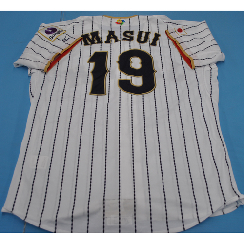 Photo of 2017 World Baseball Classic Game-Used Jersey - Hirotoshi Masui (Size L)