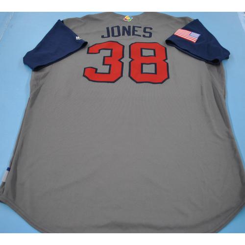 Photo of Game-Used Jersey - 2017 World Baseball Classic - Team USA - Jeff Jones - Size 50