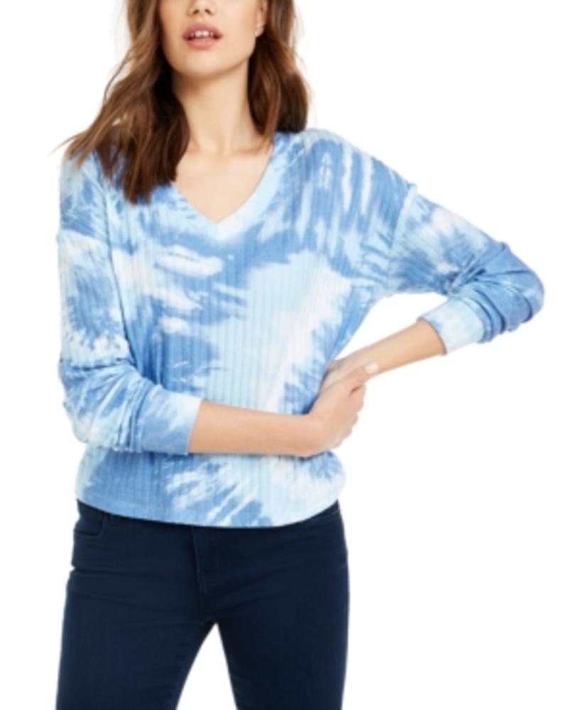 Photo of Crave Fame Juniors' Cozy Ribbed Tie-Dyed Top