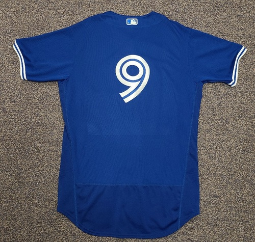 Photo of Authenticated Team Issued 2020 Spring Training Jersey: #9 Danny Jansen. Size 46