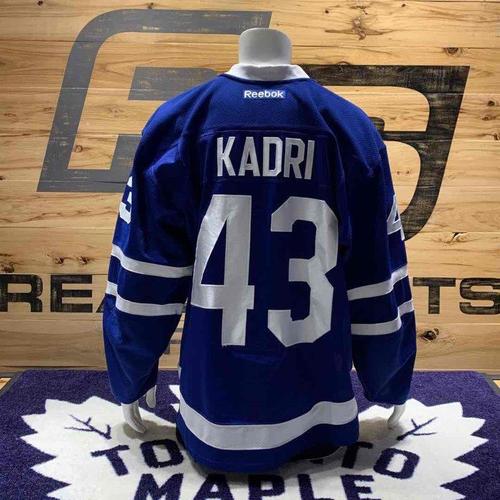 #43 Nazem Kadri Game Worn Jersey (2016-17 Home Set 1)