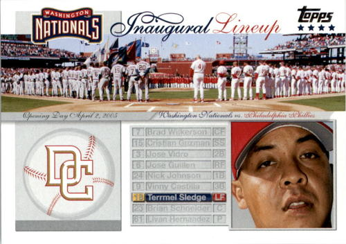 Photo of 2005 Topps Update Washington Nationals Inaugural Lineup #TS Terrmel Sledge