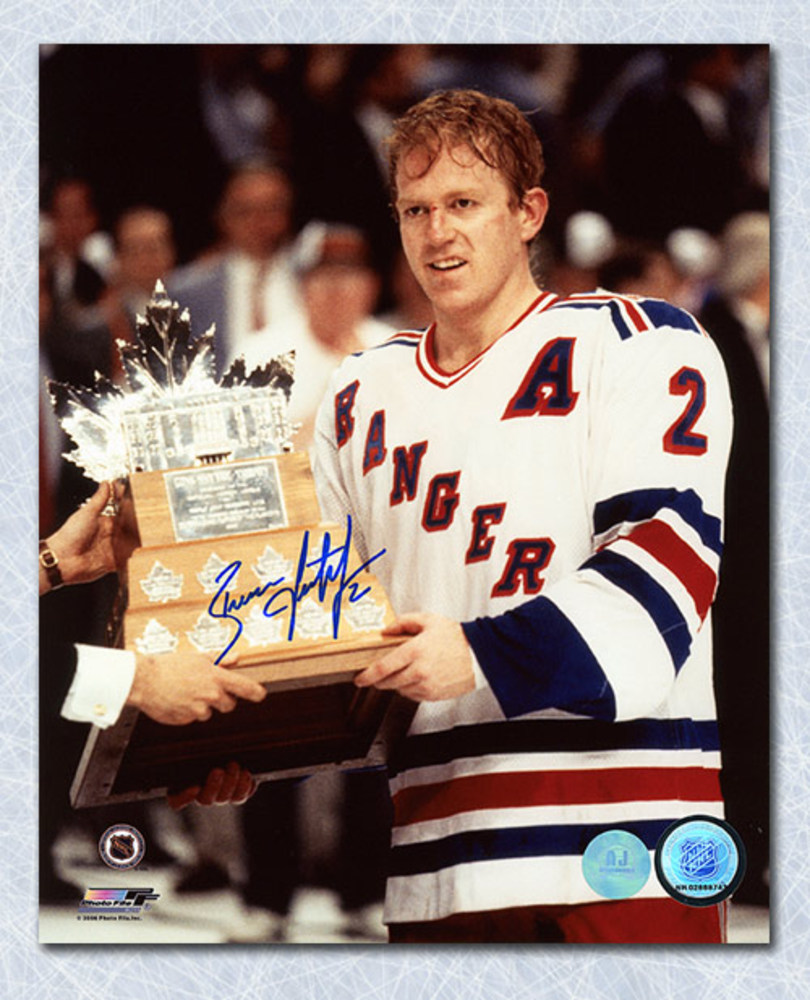 Brian Leetch New York Rangers Autographed 1994 Conn Smythe 16x20 Photo