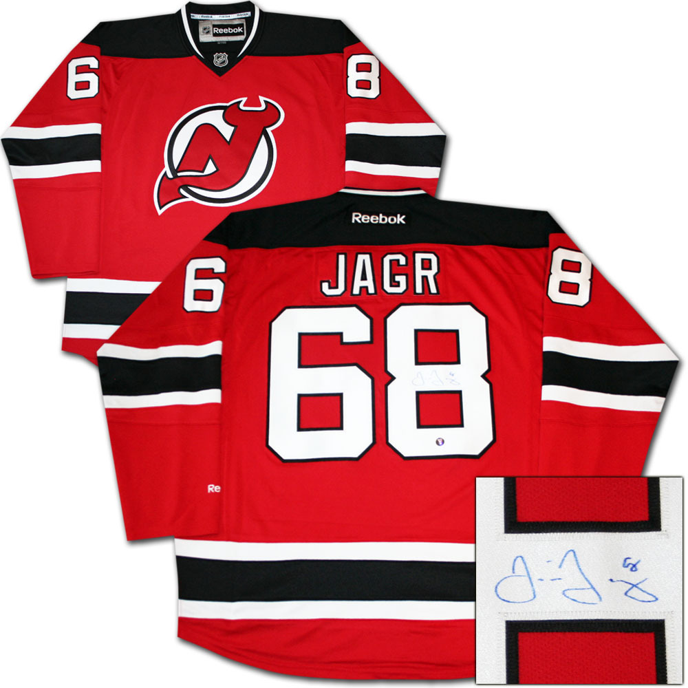 Jaromir Jagr Autographed New Jersey Devils Jersey