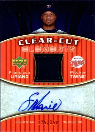 Photo of 2007 Upper Deck Elements Clear Cut Bronze #FL Francisco Liriano AUTO 225/350