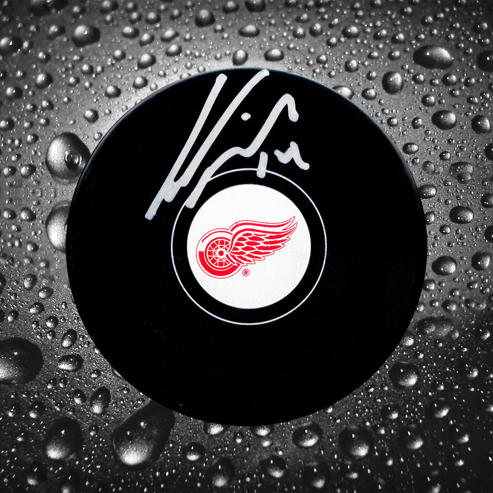 Gustav Nyquist Detroit Red Wings Autographed Puck