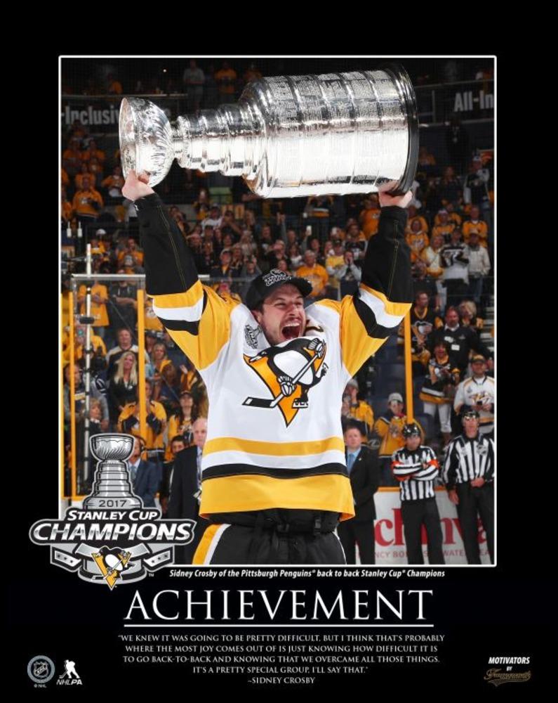 Sidney Crosby - 16x20 Motivator Plaque 2017 Stanley Cup