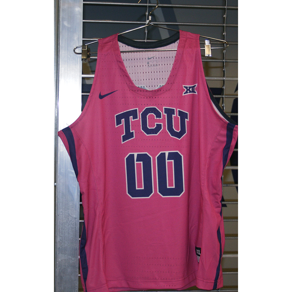 Photo of Women's Basketball Pink Game Worn Nike® Jersey #00 (XL)