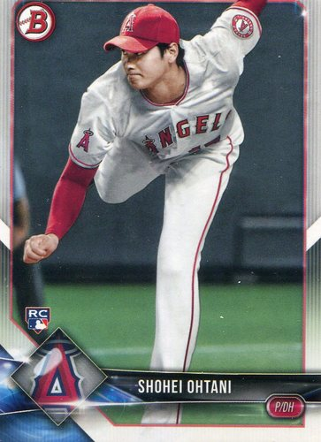 Photo of 2018 Bowman #49 Shohei Ohtani -- Rookie Card