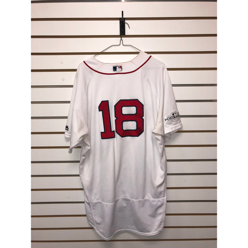 Photo of Mitch Moreland Game Used ALDS Game 3 October 8, 2017 Home Jersey