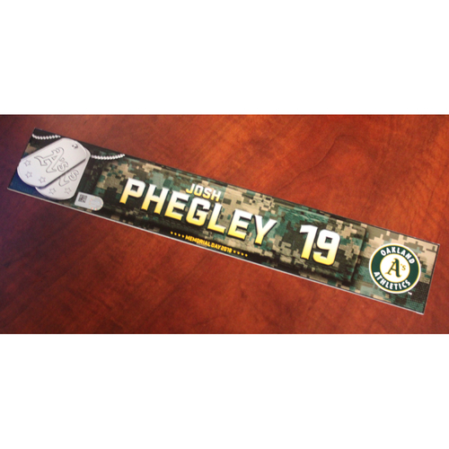 Photo of Josh Phegley 2018 Team Issued Memorial Day Locker Nameplate