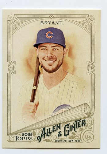 Photo of 2018 Topps Allen and Ginter #5 Kris Bryant