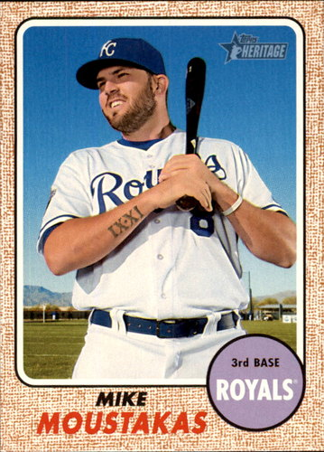 Photo of 2017 Topps Heritage #387 Mike Moustakas