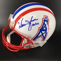 93618738b HOF - Oilers Warren Moon Signed Proline Helmet