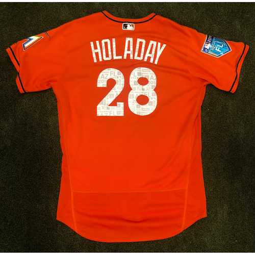 Photo of Game Used: Bryan Holaday 2018 Spring Training Jersey - Size 46