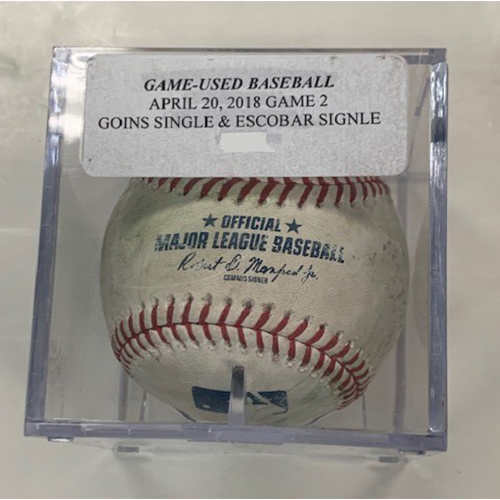 Photo of Game-Used Baseball: Ryan Goins Single and Alcides Escobar Single