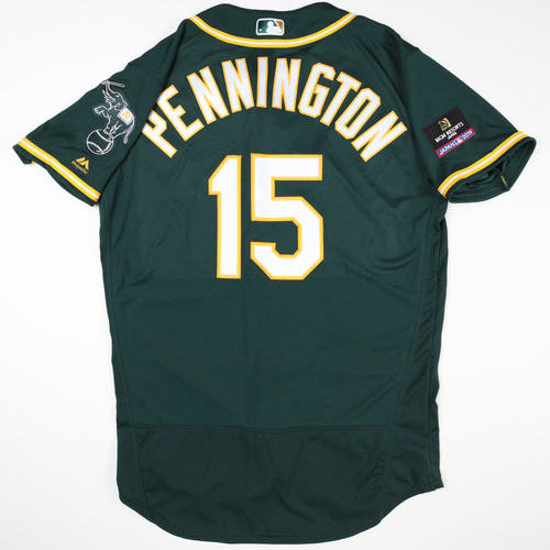 2019 Japan Opening Day Series - Game Used Jersey - Cliff Pennington, Oakland Athletics at Nippon Ham Fighters -3/17/2019