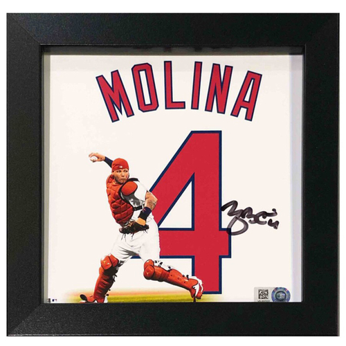 "Photo of Cardinals Authentics: St. Louis Cardinals Yadier Molina Autographed 6""x6"" Uniframe"