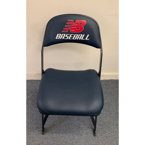 Photo of Justin Verlander May 16, 2014 Game Used Visitor's Locker Room Clubhouse Chair