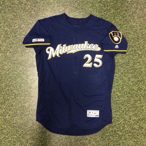 Photo of Jay Jackson 2019 Game-Used Navy Ball & Glove Jersey