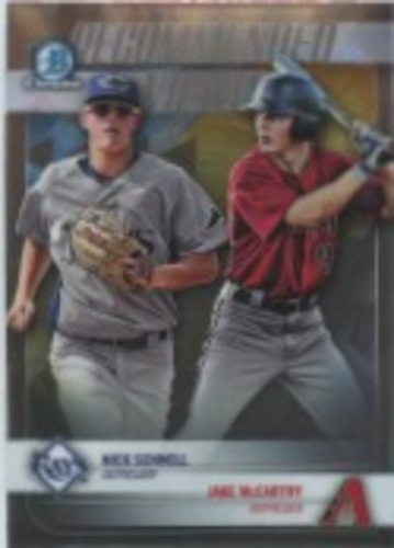 Photo of 2018 Bowman Chrome Draft Recommended Viewing #RVSM Jake McCarthy/Nick Schnell