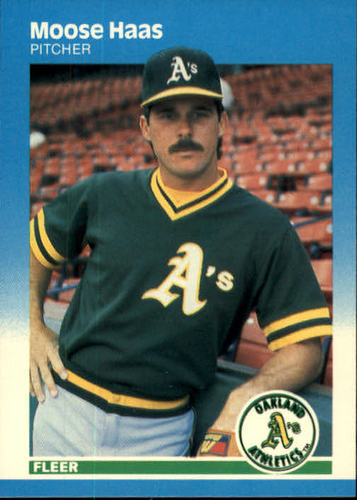 Photo of 1987 Fleer #393 Moose Haas