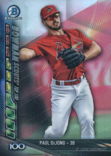 Photo of 2017 Bowman Chrome Scouts Top 100 Update #BSUPDJ Paul DeJong