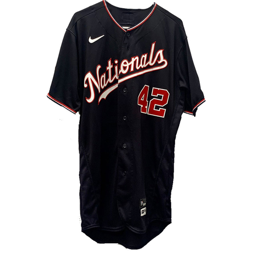 Photo of Kyle Finnegan - Jackie Robinson Day Autographed Game Worn Jersey - Size 44T