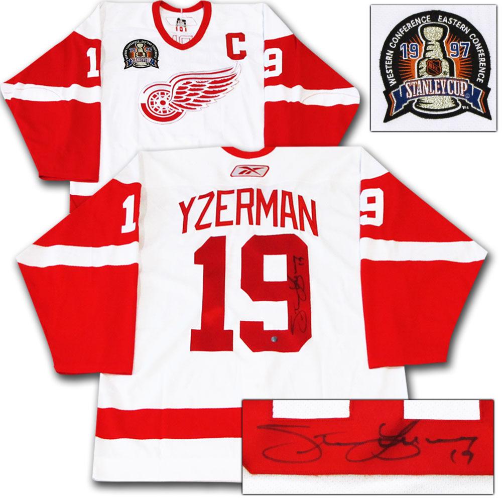 best service 756de 69cf9 Steve Yzerman Autographed Detroit Red Wings Authentic Pro ...