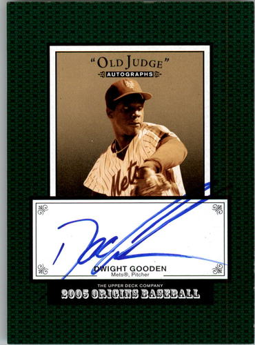 Photo of 2005 Origins Old Judge Autographs #DG Dwight Gooden T3