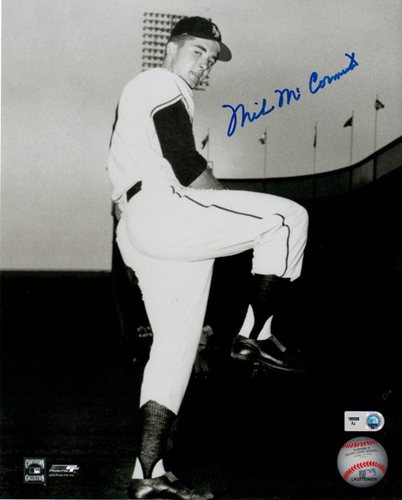 Photo of Mike McCormick in Wind-up Autographed 8x10