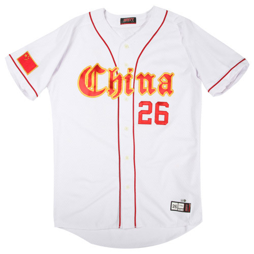 Photo of 2006 Inaugural World Baseball Classic: Yaqing Liu (China) #26 Game-Used Jersey