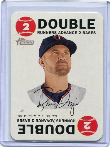 Photo of 2017 Topps Heritage Topps Game #30 Brian Dozier