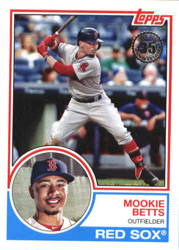 Photo of 2018 Topps '83 Topps #834 Mookie Betts