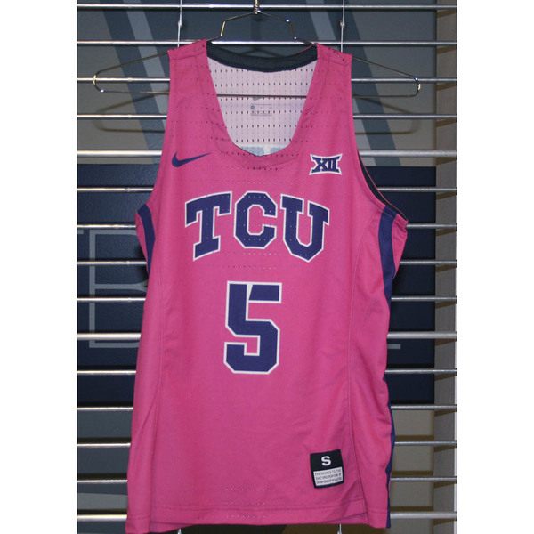 Photo of Women's Basketball Pink Game Worn Nike® Jersey #5 (S)