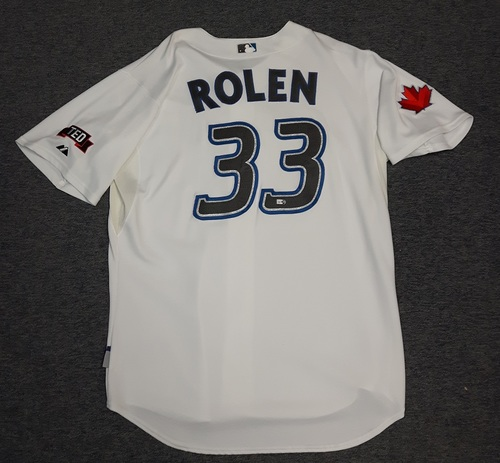 Photo of Authenticated Game Used Jersey - #33 Scott Rolen (July 22, 2009). Rolen went 1-for-4 with 1 Run and 1 RBI. Size 50