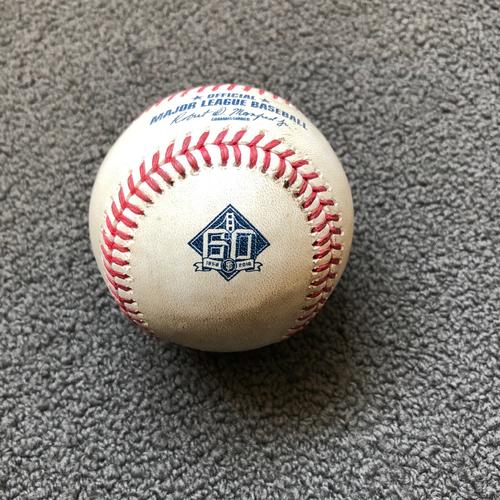 Photo of San Francisco Giants - 2018 Game-Used Baseball - Evan Longoria - Single to LF - 5/15/18 vs Cincinnati Reds