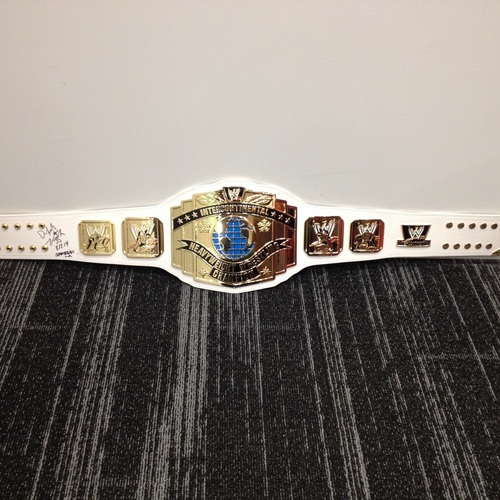 Dolph Ziggler SIGNED Intercontinental Championship Replica Title