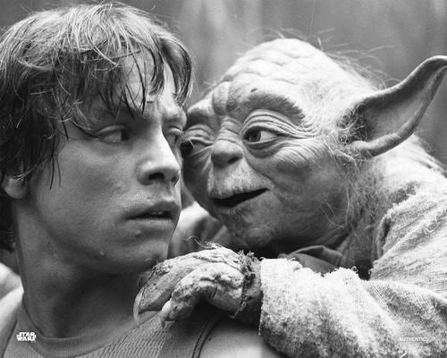Luke Skywalker and Yoda