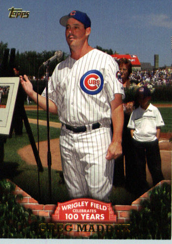 Photo of 2016 Topps 100 Years at Wrigley Field #WRIG3 Greg Maddux