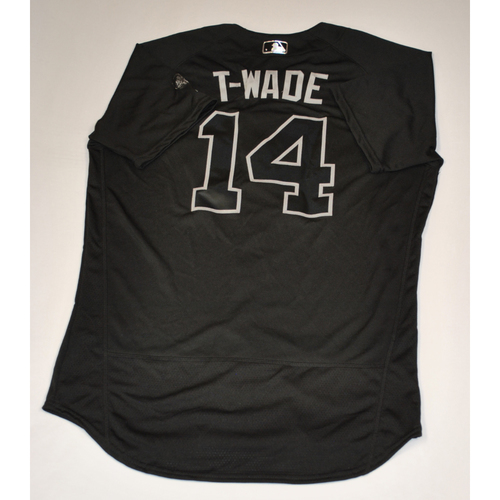 """Photo of Tyler """"T-WADE"""" Wade New York Yankees Game-Used 2019 Players' Weekend Jersey"""